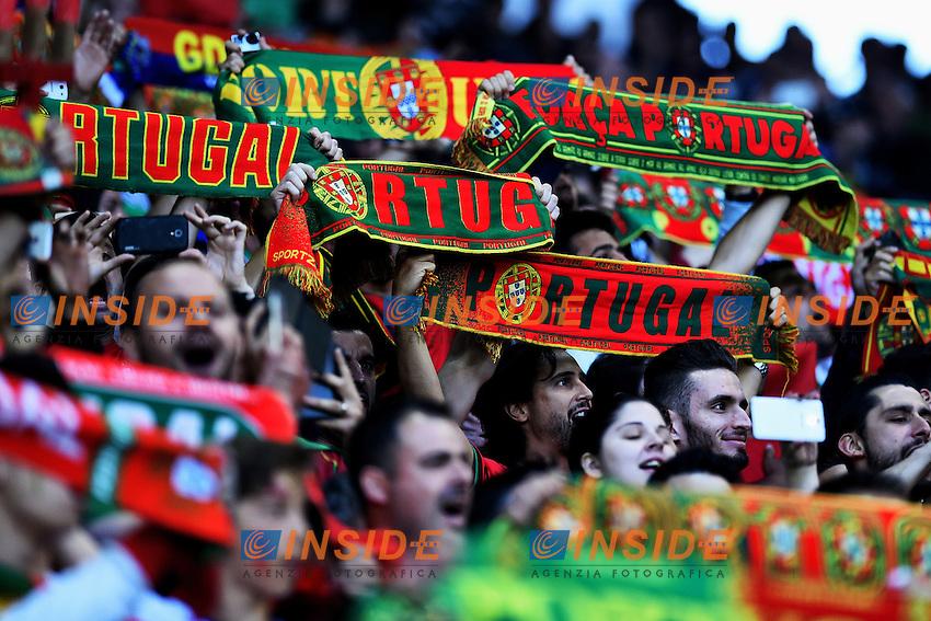 Tifosi Portogallo Portugal Supporters <br /> Saint-Etienne 14-06-2016 Stadium Geoffroy-Guichard Football Euro2016 Portugal-Iceland / Portogallo-Islanda Group Stage Group F<br /> Foto Massimo Insabato / Insidefoto