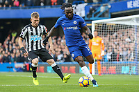 Victor Moses of Chelsea on the ball during the Premier League match between Chelsea and Newcastle United at Stamford Bridge, London, England on 2 December 2017. Photo by David Horn.