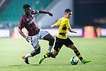 Borussia Dortmund Midfielder Emre Mor (R) fights for the ball with AC Milan Midfielder Franck Kessie (L) during the International Champions Cup 2017 match between AC Milan vs Borussia Dortmund at University Town Sports Centre Stadium on July 18, 2017 in Guangzhou, China. Photo by Marcio Rodrigo Machado / Power Sport Images