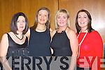 Maria Neary Beaufort, Louise Hallissey Fossa, Kate Donnellan Killarney and Alish Hallissey Fossa enjoying the Brown Thomas fashion show in the Aghadoe Heights Hotel Killarney on Friday night....