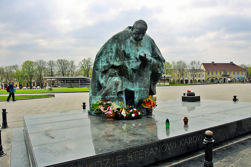 Monument to cardinal Stefan Wyszynski, Czestochowa, Poland