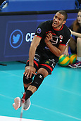 20th March 2018, PalaTrento, Trento, Italy; CEV Volleyball Champions League, playoffs, 1st leg; Trentino Diatec versus Chaumont VB 52 Haute Marne; 4 Javier Gonzalez CUB