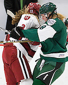 Kalley Armstrong (Harvard - 13), Brittany Mills (Dartmouth - 8) - The visiting Dartmouth College Big Green defeated the Harvard University Crimson 3-2 on Wednesday, November 23, 2011, at Bright Hockey Center in Cambridge, Massachusetts.