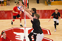 STANFORD, CA - January 2, 2018: Kevin Rakestraw, Leo Henken at Burnham Pavilion. The Stanford Cardinal defeated the Calgary Dinos 3-1.