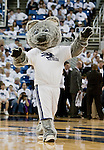 March 1, 2012: A Nevada mascot performs during a timeout at the Nevada Wolf Pack vs New Mexico State Aggies NCAA basketball game played at Lawlor Events Center on Thursday night in Reno, Nevada.