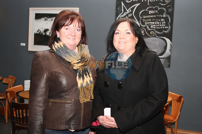 "Margaret Kierans and Natasha Fennell at the Lourdes Brass Band and St.Brigids Drama Group Performance of ""A Christmas Carol"" in The Droichead Arts Centre...(Photo credit should read Jenny Matthews www.newsfile.ie)....This Picture has been sent you under the conditions enclosed by:.Newsfile Ltd..The Studio,.Millmount Abbey,.Drogheda,.Co Meath..Ireland..Tel: +353(0)41-9871240.Fax: +353(0)41-9871260.GSM: +353(0)86-2500958.email: pictures@newsfile.ie.www.newsfile.ie."
