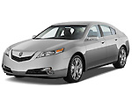 Front three quarter view of a 2009 - 2014 Acura TL SH AWD Sedan.