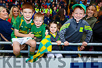 Shane, Killian, and Emier O'Sullivan with Garrath Lovitt, all supporting Kilmoyley at the County Hurling Finals in Austin Stack Park on Sunday.