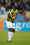 Nederland, Arnhem, 16 december  2012.Eredivisie.Seizoen 2012/2013.Vitesse-RKC.Wilfried Bony van Vitesse juicht na het scoren van de 1-0 en danst zijn dansje