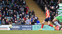 Danny Hylton scores his and his sides second goal of the game during the Sky Bet League 2 match between Yeovil Town and Luton Town at Huish Park, Yeovil, England on 4 March 2017. Photo by Liam Smith / PRiME Media Images.