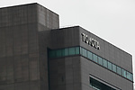A signboard of Toyota Motor Corp. on display outside its headquarters building on May 10, 2017, Tokyo, Japan. Toyota Motor Corp. announced its annual financial results for the fiscal year which ended March 31, 2017. The results saw net profits fall for first time in five years. (Photo by Rodrigo Reyes Marin/AFLO)
