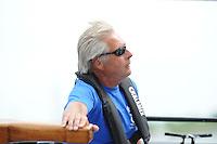 SKUTSJESILEN: LEMMER: Lemster Baai, 17-08-2012, IFKS skûtsjesilen, A-Klasse, skûtsje Lytse Lies, schipper Tony Brundel, ©foto Martin de Jong