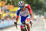 Thibaut Pinot (FRA) Groupama-FDJ finishes in 2nd place at the end of Stage 8 of the 2019 Tour de France running 200km from Macon to Saint-Etienne, France. 13th July 2019.<br /> Picture: ASO/Alex Broadway | Cyclefile<br /> All photos usage must carry mandatory copyright credit (© Cyclefile | ASO/Alex Broadway)