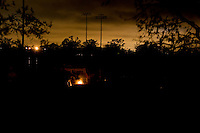 The city of New Orleans after dark on December 8, 2005.