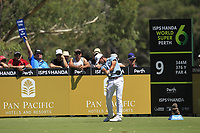 Wade Ormsby (AUS) in action on the 9th during Round 1 of the ISPS Handa World Super 6 Perth at Lake Karrinyup Country Club on the Thursday 8th February 2018.<br /> Picture:  Thos Caffrey / www.golffile.ie<br /> <br /> All photo usage must carry mandatory copyright credit (&copy; Golffile | Thos Caffrey)