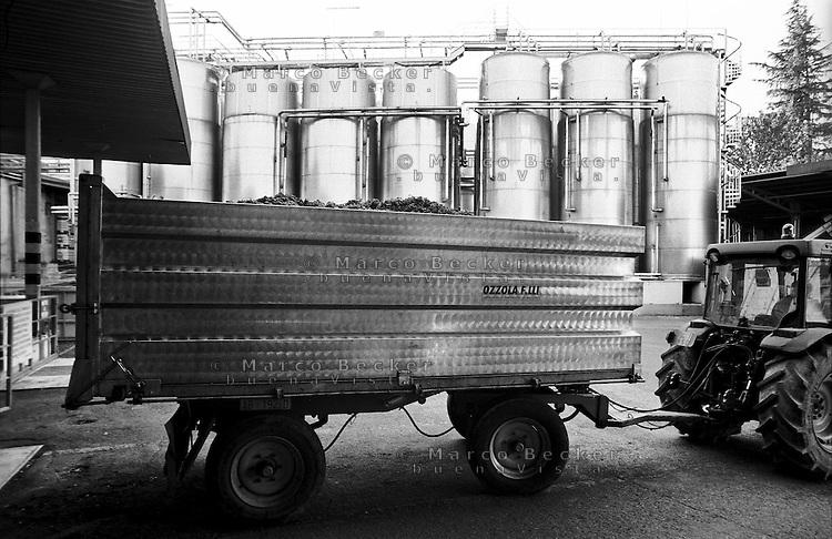 Cantina sociale a Santa Maria della Versa (Pavia). Serbatoi in acciaio --- Winery in Santa Maria della Versa (Pavia). Steel Tanks