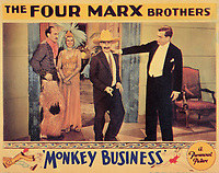 Monkey Business (1931) <br /> Lobby card with Groucho Marx &amp; Rockliffe Fellows<br /> *Filmstill - Editorial Use Only*<br /> CAP/KFS<br /> Image supplied by Capital Pictures