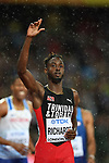 Jereem RICHARDS (TTO) in the mens 200m semi-final. IAAF world athletics championships. London Olympic stadium. Queen Elizabeth Olympic park. Stratford. London. UK. 09/08/2017. ~ MANDATORY CREDIT Garry Bowden/SIPPA - NO UNAUTHORISED USE - +44 7837 394578