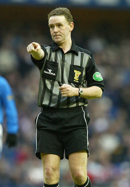 Hugh Dallas, Referee.Stock Season 2003-2004.pic willie vass
