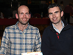 James Boylan and Ian Wogan pictured at St. Kevin's GAA awards night in Philipstown. Photo:Colin Bell/pressphotos.ie
