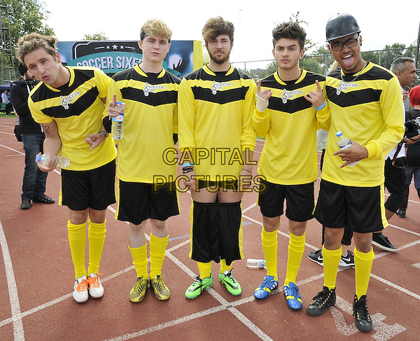LONDON, ENGLAND - AUGUST 31: Kingsland Road attend the Soccer Six Fest, Mile End Stadium, Burdett Rd., on Sunday August 31, 2014 in London, England, UK. <br /> CAP/CAN<br /> &copy;Can Nguyen/Capital Pictures