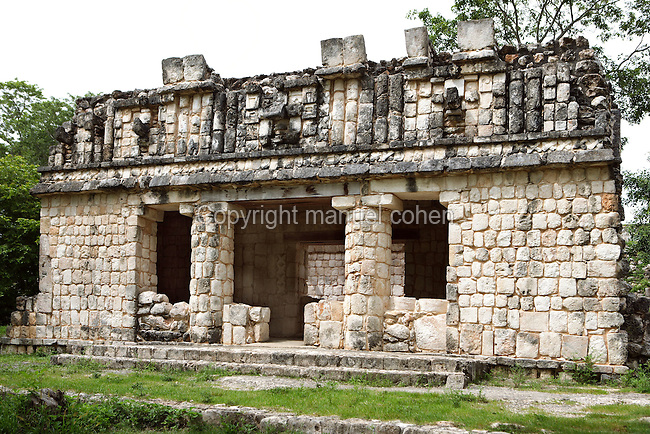 The Chaac House, Puuc architecture, Uxmal late classical Mayan site, flourished between 600-900 AD, Yucatan, Mexico Picture by Manuel Cohen