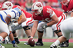 Wisconsin Badgers center Peter Konz (66) during an NCAA college football game against the San Jose State Spartans on September 11, 2010 at Camp Randall Stadium in Madison, Wisconsin. The Badgers beat San Jose State 27-14. (Photo by David Stluka)