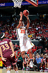 COLLEGE PARK, MD - FEBRUARY 24:  Alyssa Thomas #25 of the Maryland Terrapins drives to the hoop against Virginia Tech at the Comcast Center on February 24, 2011 in College Park, Maryland. (Photo by Greg Fiume/Maryland Media Relations)
