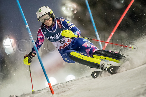 8th February 2019, Are, Sweden; Alpine skiing: Combination, ladies: Nevena Ignjatovic from Serbia on the slalom course.