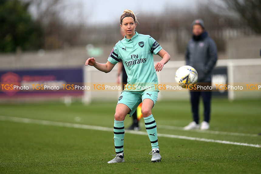 Janni Arnth of Arsenal during West Ham United Women vs Arsenal Women, FA Women's Super League Football at Rush Green Stadium on 6th January 2019