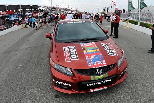 8-10 July, 2011, Toronto, Ontario CA<br /> Honda Civic SI Safety car<br /> (c)2011, Paul Webb<br /> LAT Photo USA