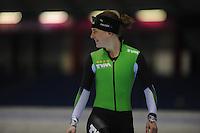SCHAATSEN: HEERENVEEN: 20-03-2014, IJsstadion Thialf, Training WK Allround, Ireen Wust, laatste keer in TVM outfit, ©foto Martin de Jong