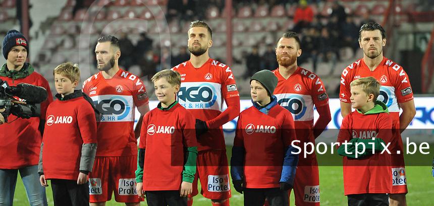 1/4 finale Croky Cup : KV Kortrijk - AA Gent :<br /> Team KVKortrijk met jeugdspelers<br /> <br /> foto VDB / Bart Vandenbroucke