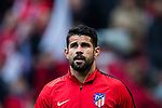 Diego Costa of Atletico de Madrid warms up prior to the La Liga 2017-18 match between Atletico de Madrid and Girona FC at Wanda Metropolitano on 20 January 2018 in Madrid, Spain. Photo by Diego Gonzalez / Power Sport Images