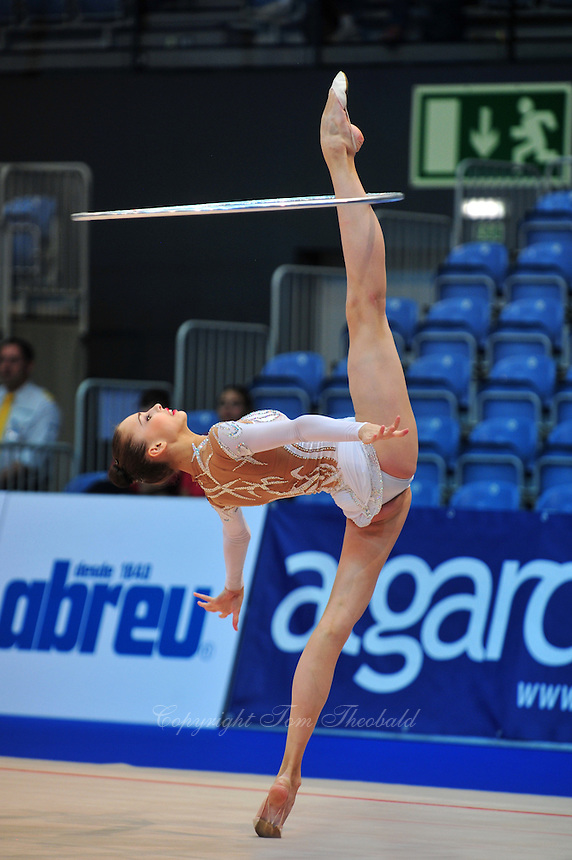 Viktoria Shynkarenko of Ukraine performs at 2011 World Cup at Portimao, Portugal on April 29, 2011.  .