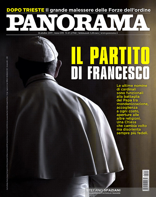 Panorama Italian Magazine Pope Francis on October 16, 2018<br />