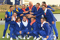 Team Europe win the 2018 Ryder Cup at Le Golf National, Ile-de-France, France. 30/09/2018.<br /> Picture Thos Caffrey / Golffile.ie<br /> <br /> All photo usage must carry mandatory copyright credit (© Golffile | Thos Caffrey)