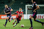Muangthong United Midfielder Chanathip Songkrasin (c) is chased by Thomas Lam of SC Kitchee (l) during the 2017 Lunar New Year Cup match between SC Kitchee (HKG) vs Muangthong United (THA) on January 28, 2017 in Hong Kong, Hong Kong. Photo by Marcio Rodrigo Machado/Power Sport Images