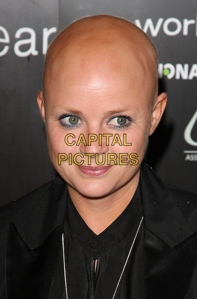 GAIL PORTER.'Hear The World' Photographic Exhibition at the Saatchi Gallery, London, England..July 21st 2009.headshot portrait black .CAP/ROS.©Steve Ross/Capital Pictures.