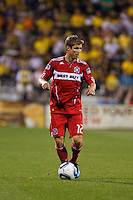 3 JULY 2010:  Logan Pause of Chicago Fire (12)  during MLS soccer game between Chicago Fire vs Columbus Crew at Crew Stadium in Columbus, Ohio on July 3, 2010.