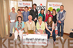 Youth Union Community Awards at Fels point Hotel on Monday pictured front l-r Geraldine Hennessy, Shanakill Family Resource Centre, Tom Lawlor, Chair Tralee Credit Union, Gemma O'Brien, KDYS, Catriona Brown, Youth Union Rep, back l-r Martin Burke, KDYS, Celina Coffey, Leaving Cert, Thomas White, Shanakill Resource Centre Youth Club, Aki O'Rourke, Duisigh Youth Theatre, Micheala Brosnan, Spa Road Youth Club, Shannen McInerney, Spa Road Youth Club, Hannah Hennessy, Youth Union Rep, Darragh Hogan