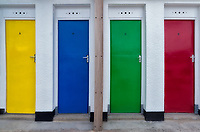 Colorful doors in St Ives. Cornwall, England.