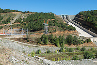 TURKEY, Mengen, Köprübaşı HEPP, hydro power station of Yueksel Holding / TUERKEI, Mengen, Köprübaşı HEPP, Wasserkraftwerk der Yueksel Holdung, Staudamm