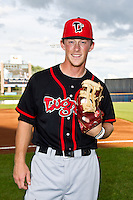 Marcus Knecht (19) of the Lansing Lugnuts poses for a portrait prior to the Midwest League All-Star Game at Modern Woodmen Park on June 21, 2011 in Davenport, Iowa. (David Welker / Four Seam Images).