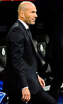 Ziendine Zidane gestures during the Spanish league football match Real Madrid CF vs Valencia CF at the Santiago Bernabeu stadium in Madrid on May 4, 2014. PHOTOCALL3000/