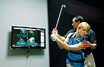 Golf swing instruction at Sports Club LA golf annex