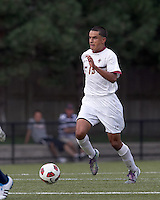 Boston College forward/midfielder Diego Medina-Mendez (15) on the attack. Boston College defeated Quinnipiac, 5-0, at Newton Soccer Field, September 1, 2011.