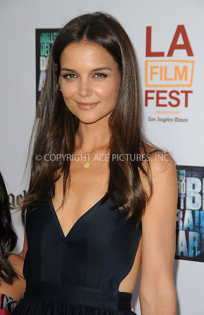 WWW.ACEPIXS.COM . . . . .  ....June 26 2011, Los Angeles....Actress Katie Holmes arriving at the 2011 Los Angeles Film Festival Closing Night Premiere 'Dont Be Afraid Of The Dark' at Regal Cinemas L.A. Live on June 26, 2011 in Los Angeles, California. ....Please byline: PETER WEST - ACE PICTURES.... *** ***..Ace Pictures, Inc:  ..Philip Vaughan (212) 243-8787 or (646) 679 0430..e-mail: info@acepixs.com..web: http://www.acepixs.com