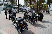 FORT LAUDERDALE, FL - JUNE 28: The Police are seen on Fort Lauderdale Beach as South Florida beaches are to close for July Fourth weekend, Florida reports another record spike in coronavirus cases, Floridaís Covid-19 surge shows the state's reopening plan is not working on June 28, 2020 in Fort Lauderdale Beach, Florida. Credit: mpi04/MediaPunch
