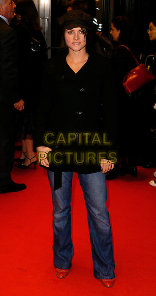 HOLLY DAVIDSON  .The Times BFI London Film Festival: Venus - gala screening, Odeon West End, London, UK..October 19th, 2006.Ref: CAN.full length jeans denim black jacket hat.www.capitalpictures.com.sales@capitalpictures.com.©Can Nguyen/Capital Pictures
